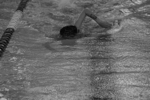 West Swims Laps Around Competition