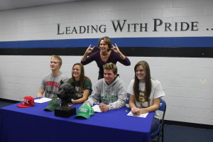 Student Athletes Sign With Universities