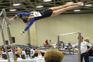 Gymnast Keeps Eye on the Prize
