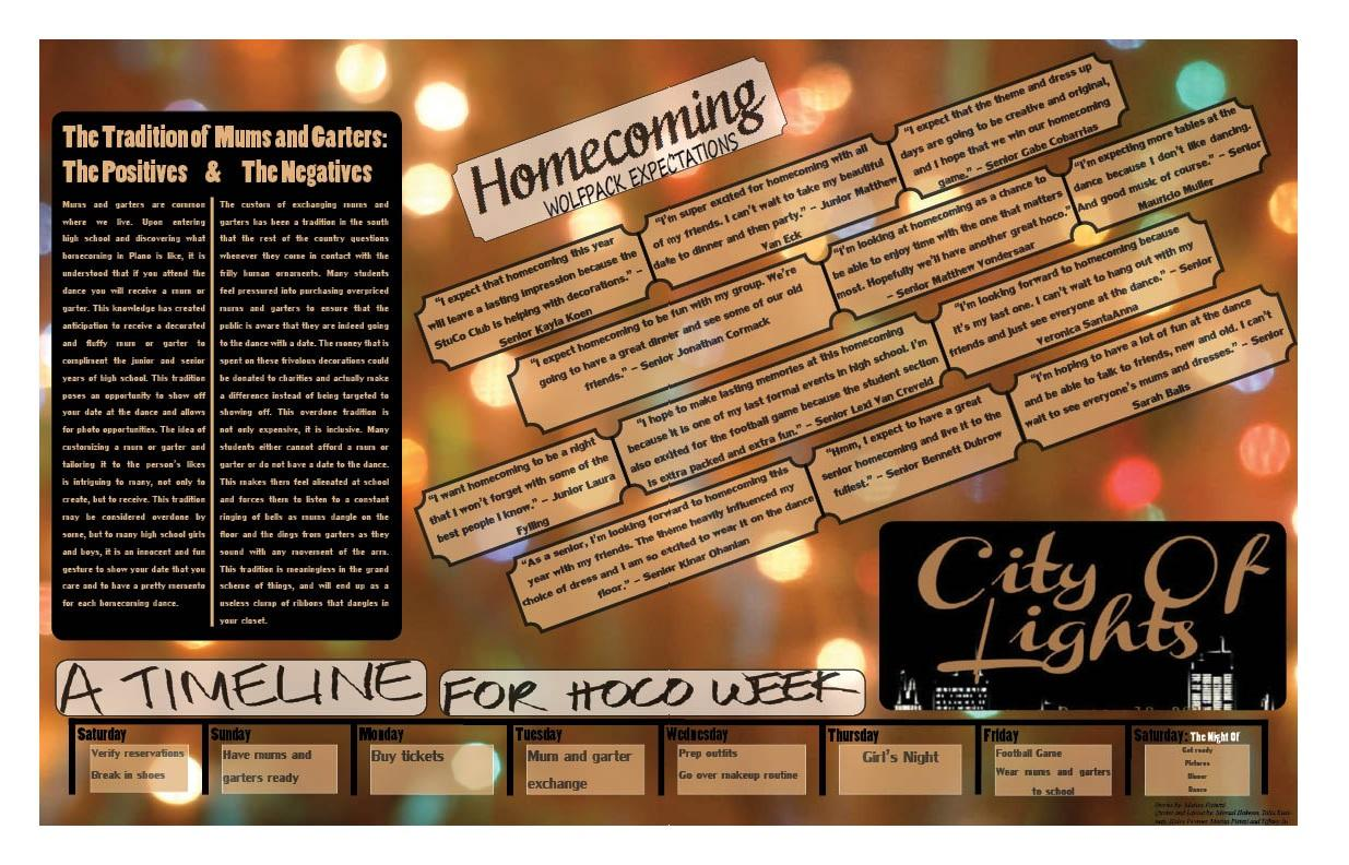 Homecoming Double Page Spread